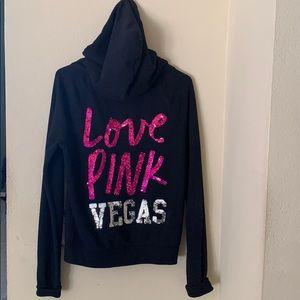 💕Victoria's Secret PINK Vegas Hoodie Sequins 💕